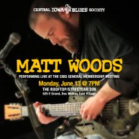 Matt Woods performing LIVE at the June 13 Membership Meeting