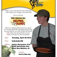HuHot Fundraiser April 26