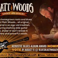 Matt Woods Receives Blues Blast Award Nomination - Acoustic Blues Album