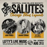 CIBS Salutes Chicago Blues August 31 @ Lefty's